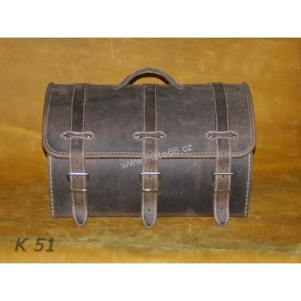 Kožený kufr - válec na chopper 48cm typ 51  31c042ac37