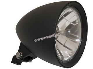 "HIGHSIDER headlamp CLASSIC 1, 5 3/4 "" H4 12 V 60/55W, black alu housing, diamond cut reflector,  with parking light, bottom mount, E-mark"