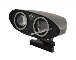 FLAT ELLY, twin-headlamp, oval, housing black, bottom mount, with two 38 mm projection lights and front position light