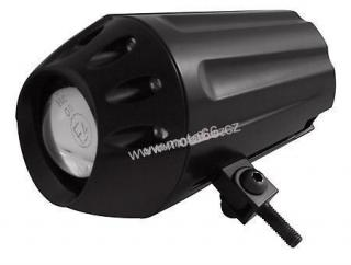CONICAL ONE, housing black, bottom mount, projection light 50 mm with a shutter for high & low beam, H1 55 watt