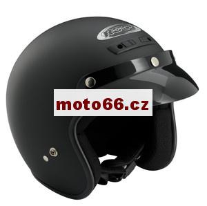 ROCC Moto helma otevřená skútr CLASSIC černá matová