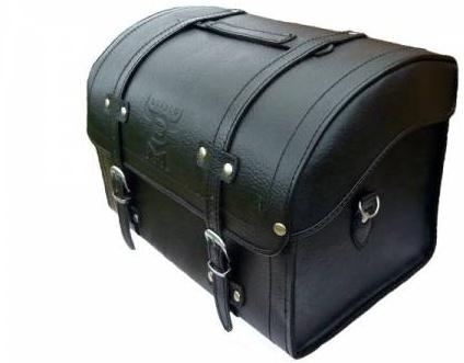 DIABLO MOTO kožený kufr na nosič motocyklu chopper