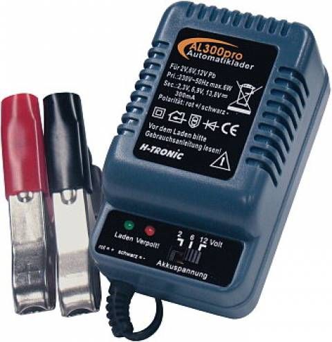 Moto nabíječka H TRONIC i pro gelové akumulátory 300 mA